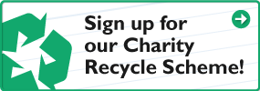 Sign up for our charity recycling scheme