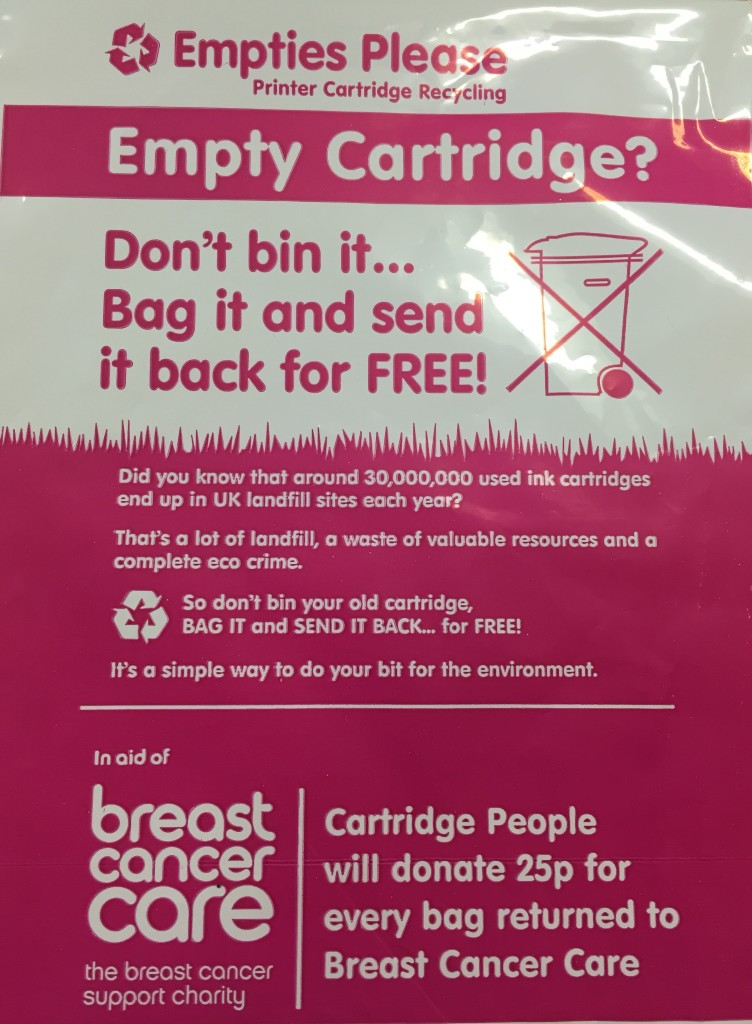 Empties Please pink bag